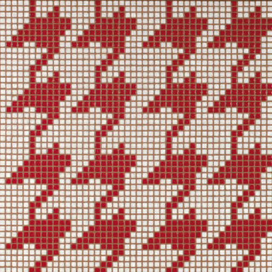 Pied de Poule Rosso mosaic by Bisazza | Glass mosaics