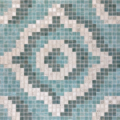 Velvet Grey Oro Bianco mosaic by Bisazza | Glass mosaics