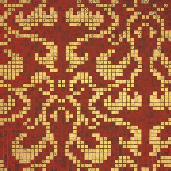 Damasco Rosso Oro mosaic de Bisazza | Mosaïques