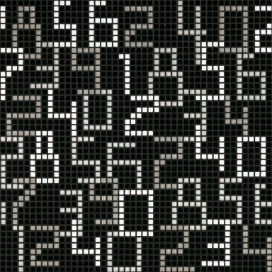Data Black mosaic by Bisazza | Glass mosaics