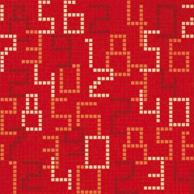 Data Red mosaic di Bisazza | Mosaici in vetro