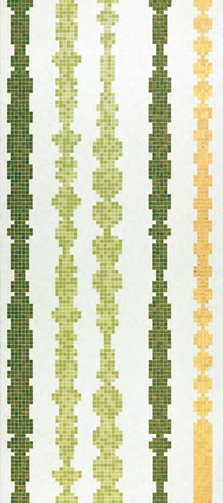 Columns Green A mosaic by Bisazza | Glass mosaics