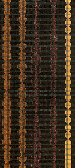 Columns Brown A mosaic by Bisazza | Glass mosaics
