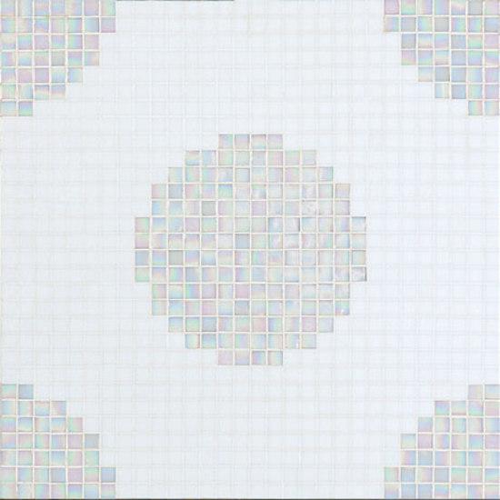 Pois Bianchi mosaic by Bisazza | Glass mosaics