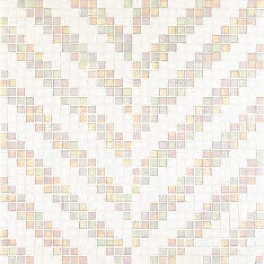 Twill Bianco mosaic by Bisazza | Glass mosaics