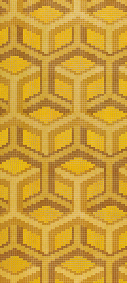 Suite Oro Giallo mosaic by Bisazza | Glass mosaics