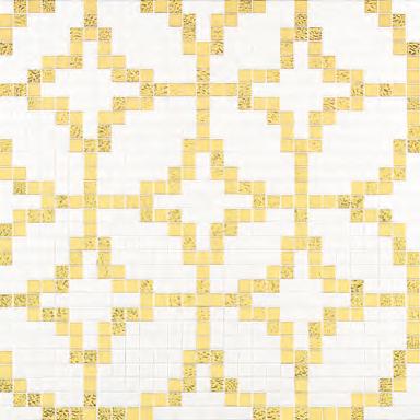 Etoiles Oro Giallo mosaic by Bisazza | Glass mosaics