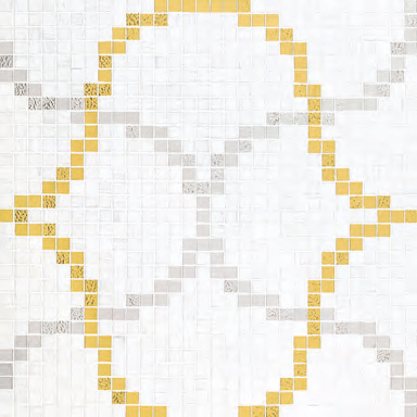 Liaisons Bianco mosaic by Bisazza | Glass mosaics