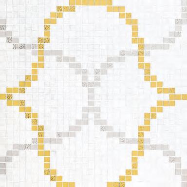 Liaisons Bianco mosaic di Bisazza | Mosaici vetro