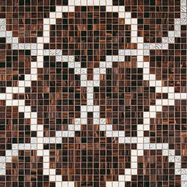 Liaisons Marrone mosaic de Bisazza | Mosaïques verre