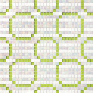 Rings Green mosaic by Bisazza | Glass mosaics