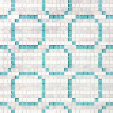 Rings Blue mosaic by Bisazza   Glass mosaics