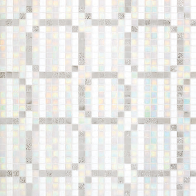 Rings Oro Bianco mosaic by Bisazza | Glass mosaics