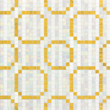 Rings Oro Giallo mosaic by Bisazza | Glass mosaics