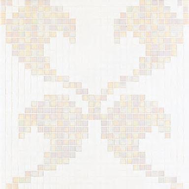 Hearts White mosaic by Bisazza   Glass mosaics