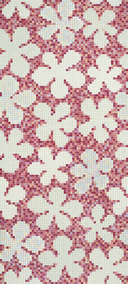 Glass Flowers New Pink mosaic by Bisazza | Mosaics