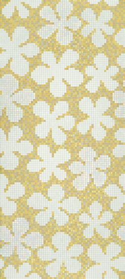 Glass Flowers Amber mosaic by Bisazza | Glass mosaics