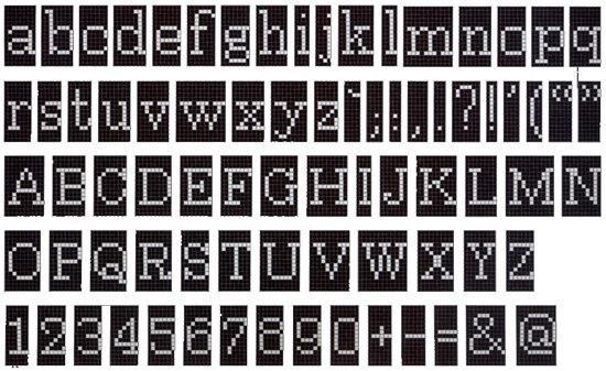 Alfabeto Negativo mosaic di Bisazza | Mosaici vetro