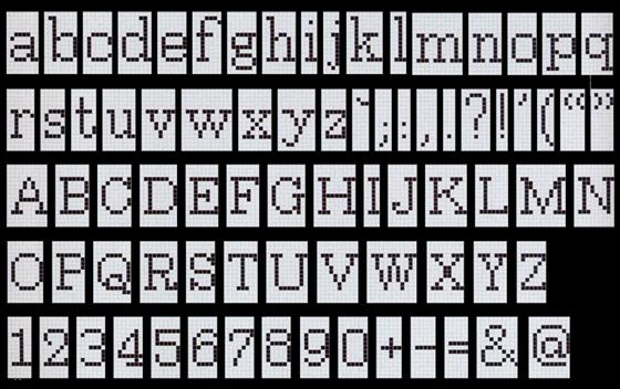 Alfabeto Positivo mosaic von Bisazza | Mosaike