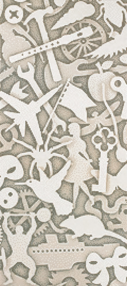 Silhouette A mosaic by Bisazza | Glass mosaics