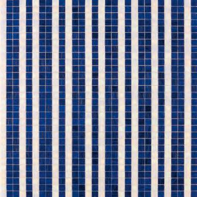Righe Bianco Blu mosaic by Bisazza   Glass mosaics