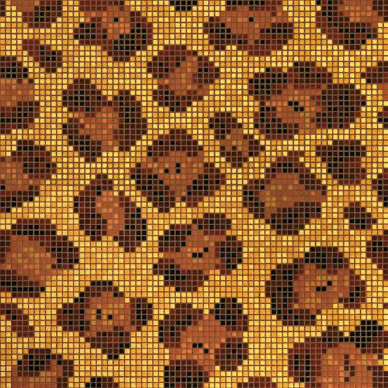 Leopard mosaic von Bisazza | Glas Mosaike