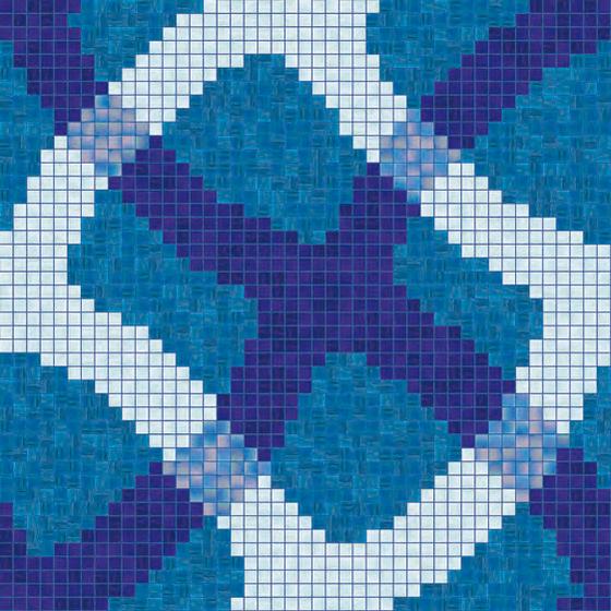 Mirage Blu mosaic von Bisazza | Glas Mosaike