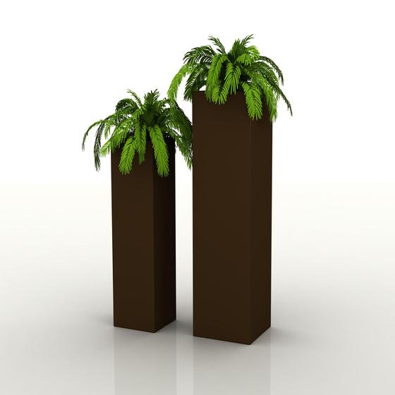 Aigua Torre cuadrada by Vondom | Flowerpots / Planters