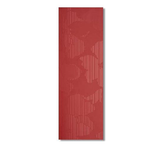 Luce rossa 75x25 di Iris Ceramica | Piastrelle pareti