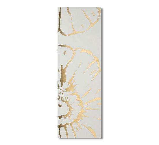 Glamour bianco oro 75x25 di Iris Ceramica | Piastrelle per pareti