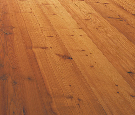 LARCH wide-plank brushed | lye treatment | natural oil by mafi | Wood flooring