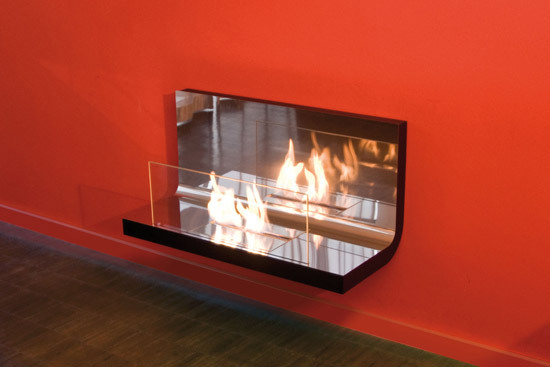 wall flame I by Radius Design | Ventless ethanol fires