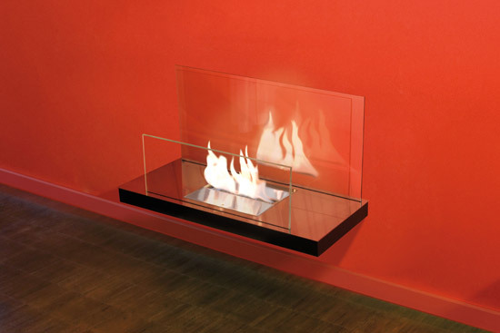 wall flame II by Radius Design | Ventless ethanol fires