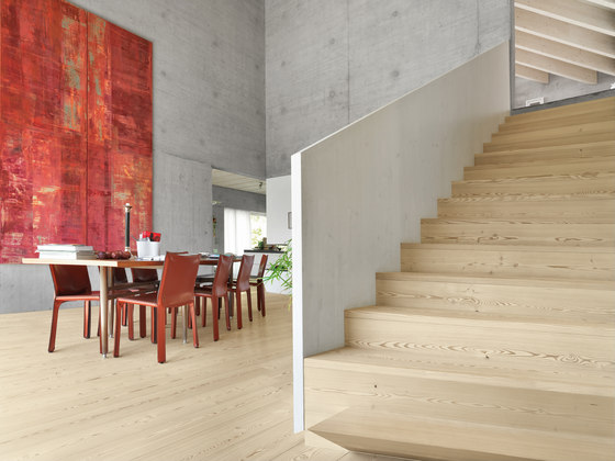 LARCH wide-plank brushed | lye treatment | white oil by mafi | Wood flooring
