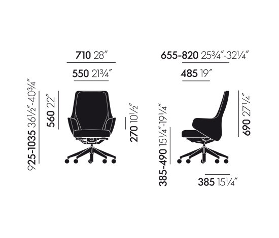 Skape Lowback by Vitra | Management chairs