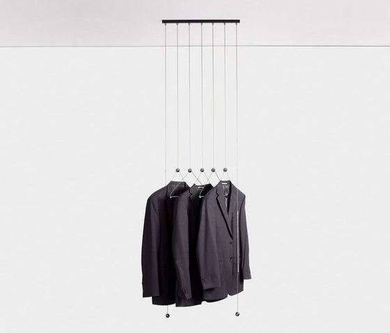 adeco wiredress ceiling coat hanger di adeco | Appendiabiti da soffitto