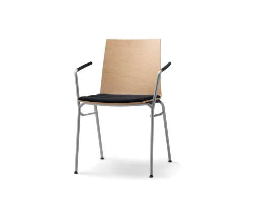 update stacking chair with arms by Wiesner-Hager | Visitors chairs / Side chairs