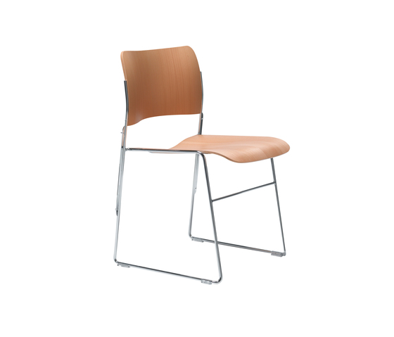 40/4 chair with integrated linking by HOWE | Visitors chairs / Side chairs