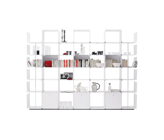 cWave | Bookcases with 3 drawers H 2223 mm by Dieffebi | Office shelving systems