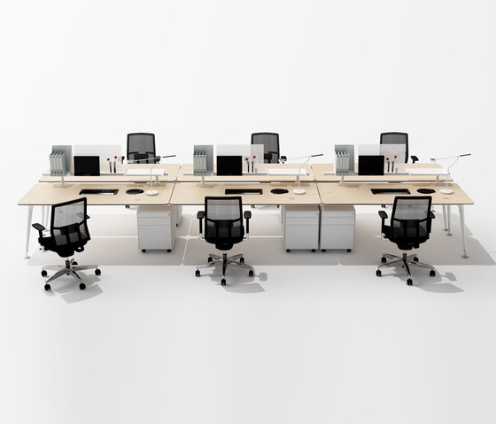 U too Six Fold Desk de Nurus | Bureaux