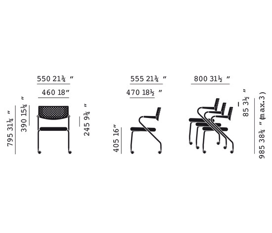 Visaroll 2 by Vitra | Visitors chairs / Side chairs
