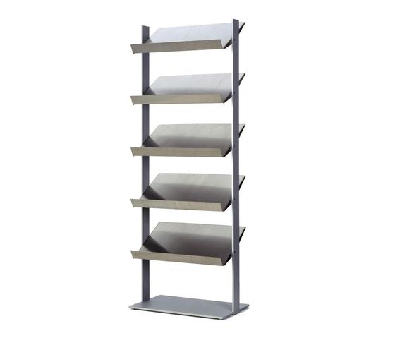 Inox Storage System by Lourens Fisher | Brochure / Magazine display stands