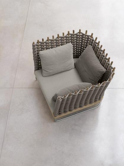 Wabi by Paola Lenti | Garden armchairs