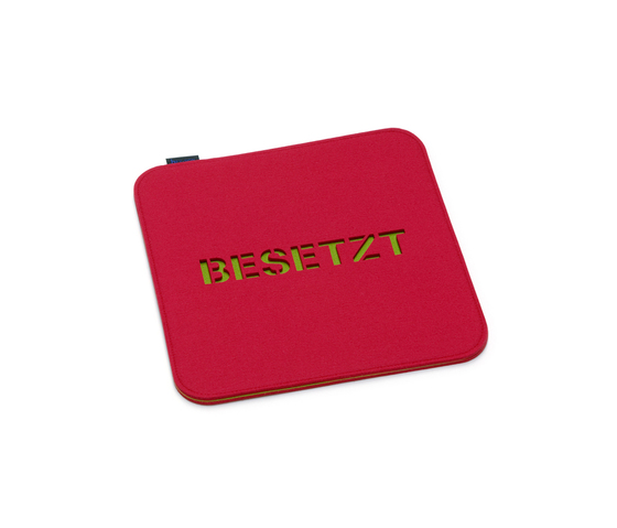 Seat cushion Besetzt/Frei, double by HEY-SIGN | Seat cushions