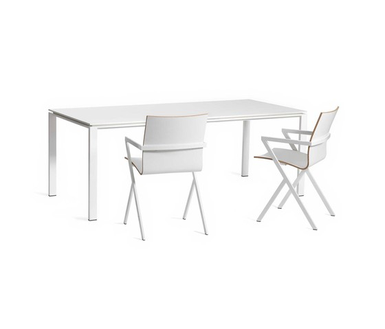 Slender White Color Core by Lourens Fisher | Dining tables
