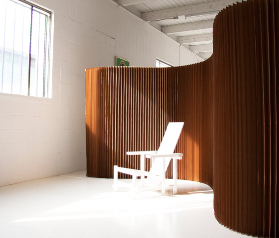 softwall | natural brown paper von molo | Raumteilsysteme