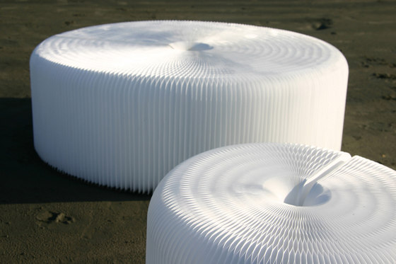 softseating | white textile softseating by molo | Garden stools