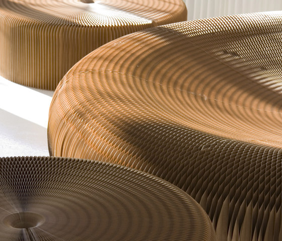 softseating | natural brown paper lounger by molo | Seating islands