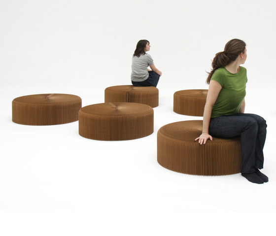 softseating | natural brown paper softseating by molo | Ottomans