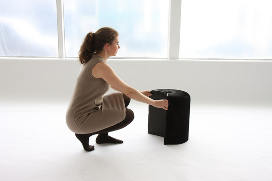 softseating | black paper softseating by molo | Ottomans
